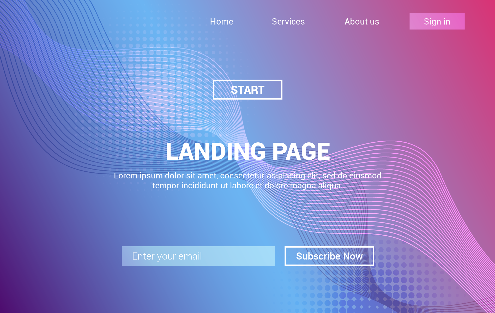examples of landing page